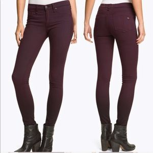 Rag & Bone Burgundy Legging Jeans C11